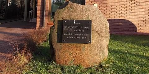 Kamień pamiątkowy Gałczyńskiego
