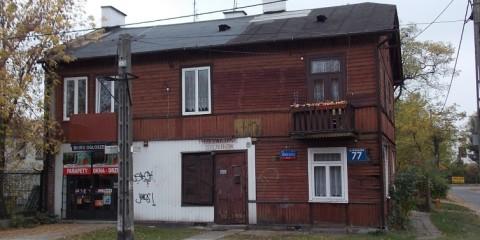 Budynek drewniany przy Widocznej 77