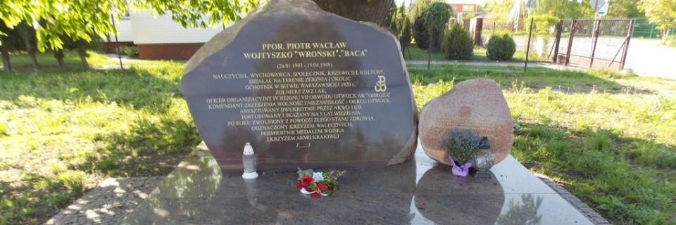 Obelisk upamiętniający Wacława Wojtyszkę