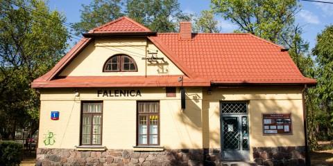 Budynek stacji Kolei Jabłonowskiej w Falenicy